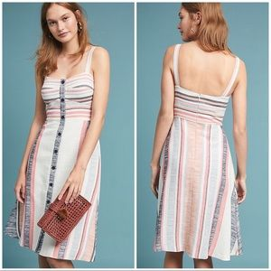 Anthro Hutch Pastel Striped Dress